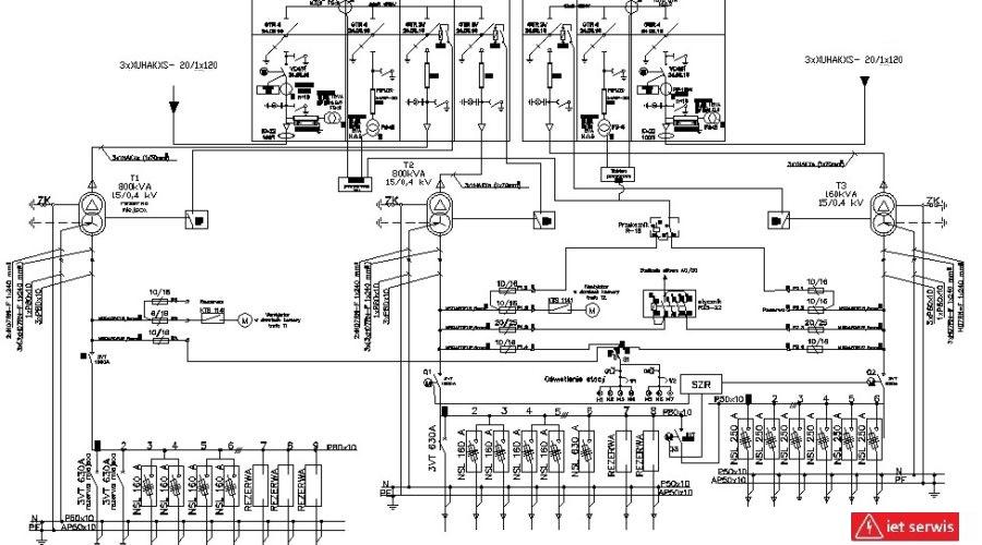 projektowanie stacji transformatorowych